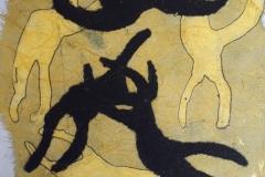 Dream I, Drypoint, carborundum & chine colle, monotype